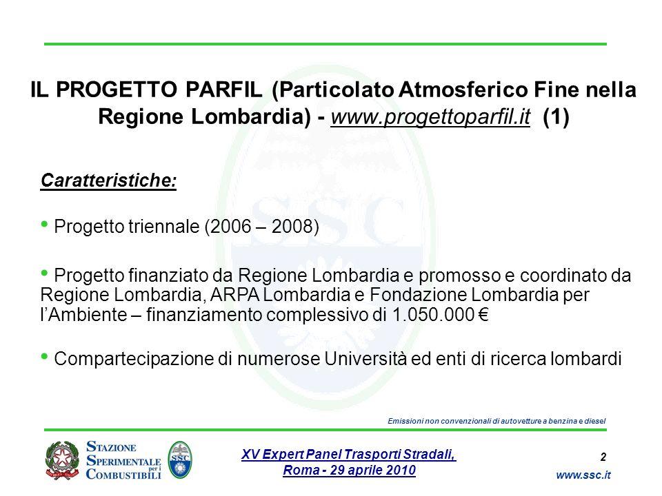 IL PROGETTO PARFIL (Particolato Atmosferico Fine nella Regione Lombardia) - www.progettoparfil.it (1)