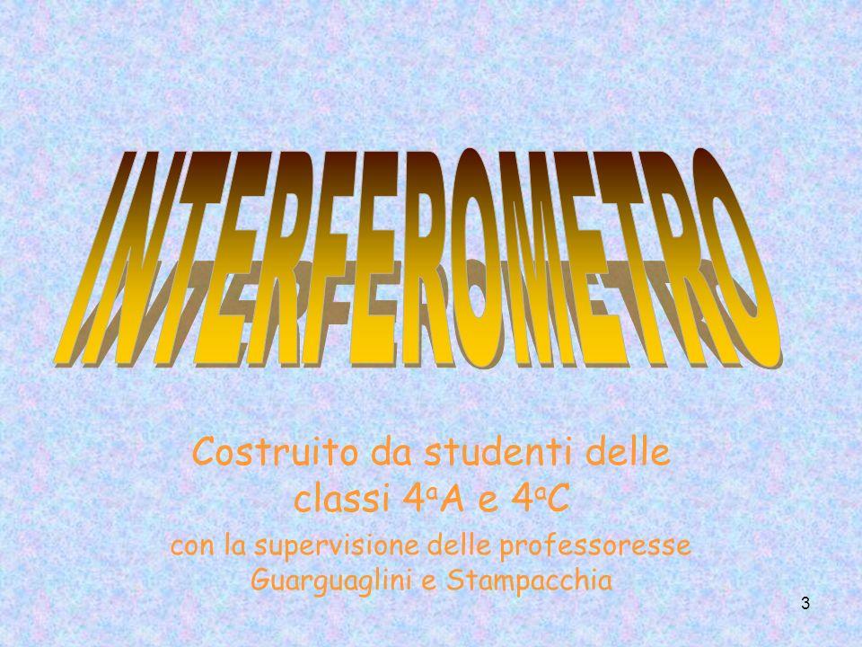 INTERFEROMETRO Costruito da studenti delle classi 4aA e 4aC