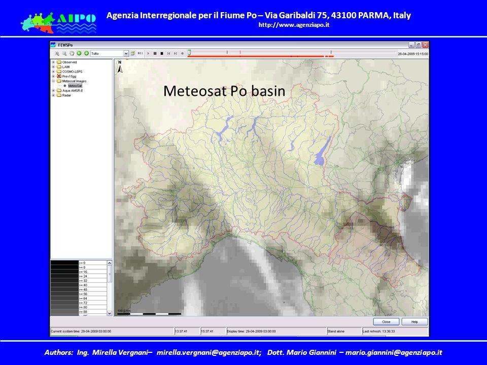 Meteosat Po basin