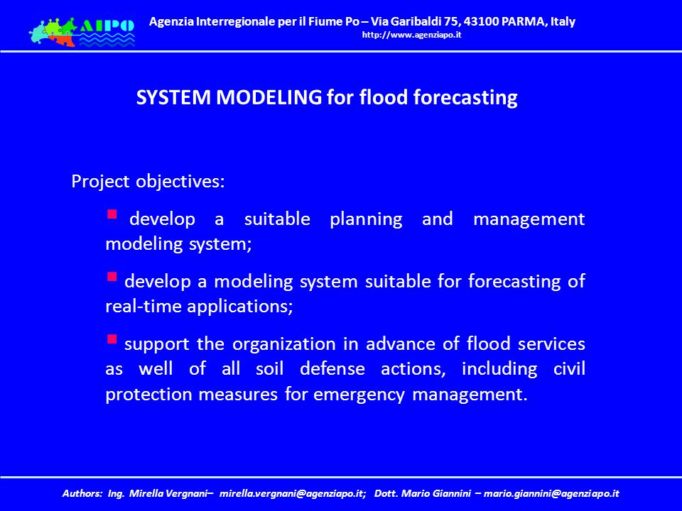 SYSTEM MODELING for flood forecasting
