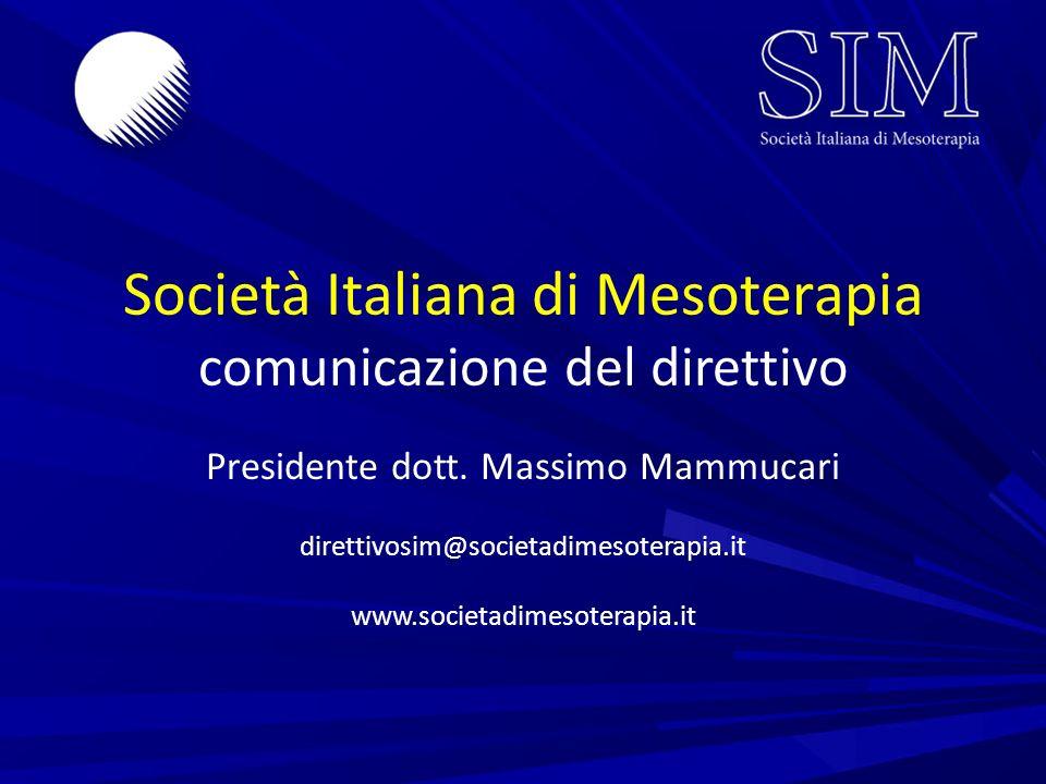 Società Italiana di Mesoterapia comunicazione del direttivo