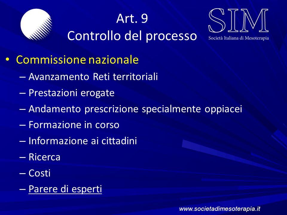 Art. 9 Controllo del processo