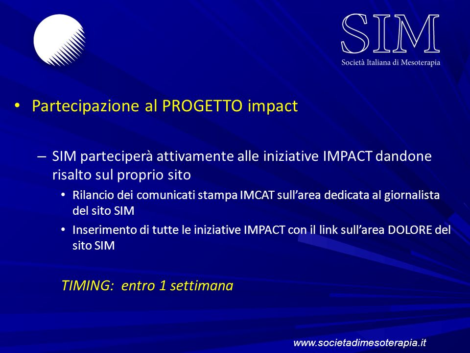 Partecipazione al PROGETTO impact