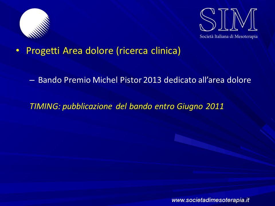 Progetti Area dolore (ricerca clinica)