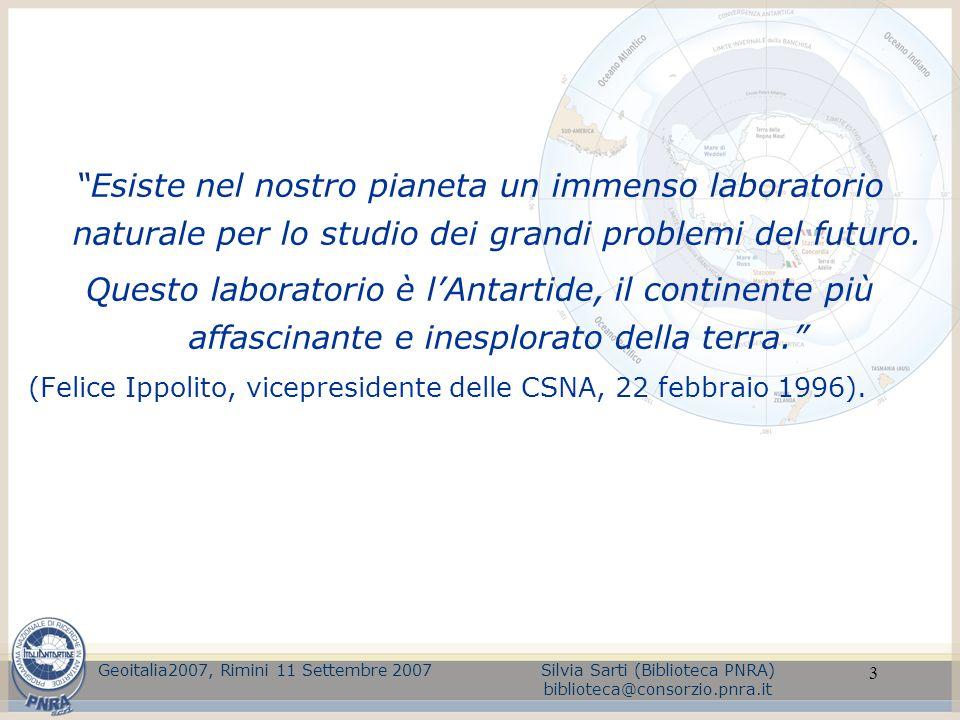 Esiste nel nostro pianeta un immenso laboratorio naturale per lo studio dei grandi problemi del futuro.