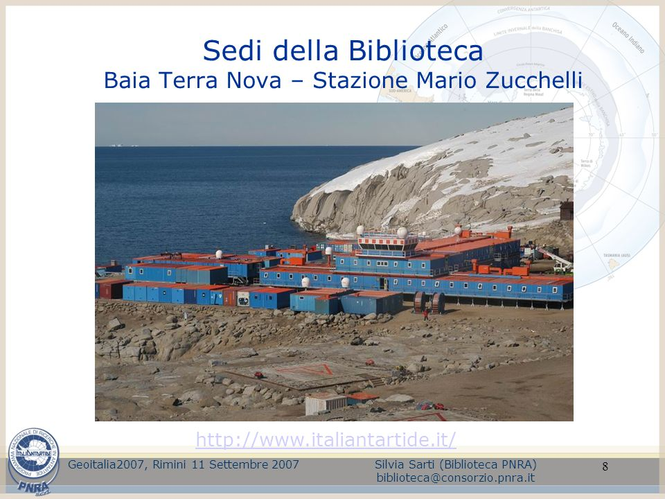 Sedi della Biblioteca Baia Terra Nova – Stazione Mario Zucchelli