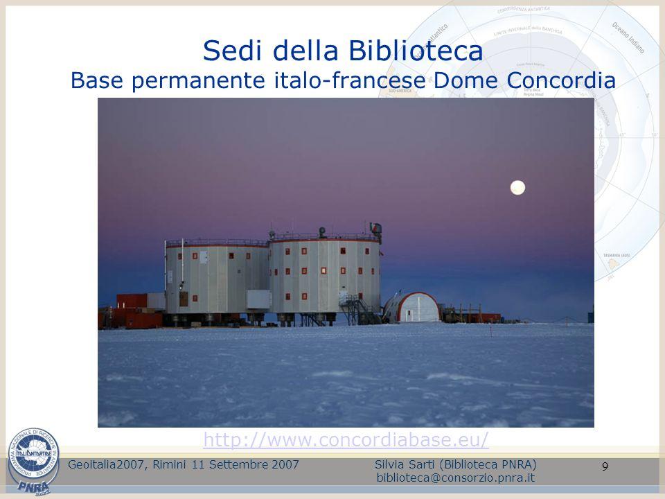 Sedi della Biblioteca Base permanente italo-francese Dome Concordia
