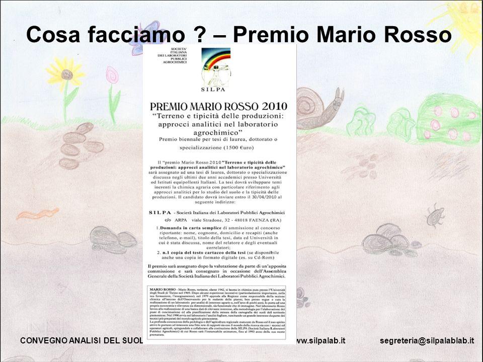 Cosa facciamo – Premio Mario Rosso