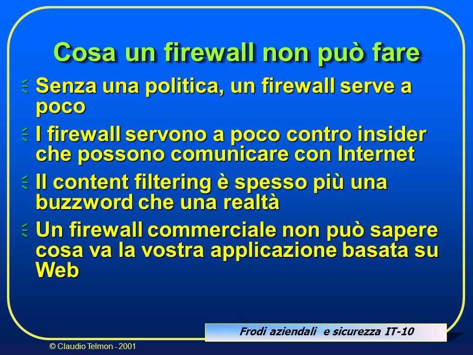 Cosa un firewall non può fare