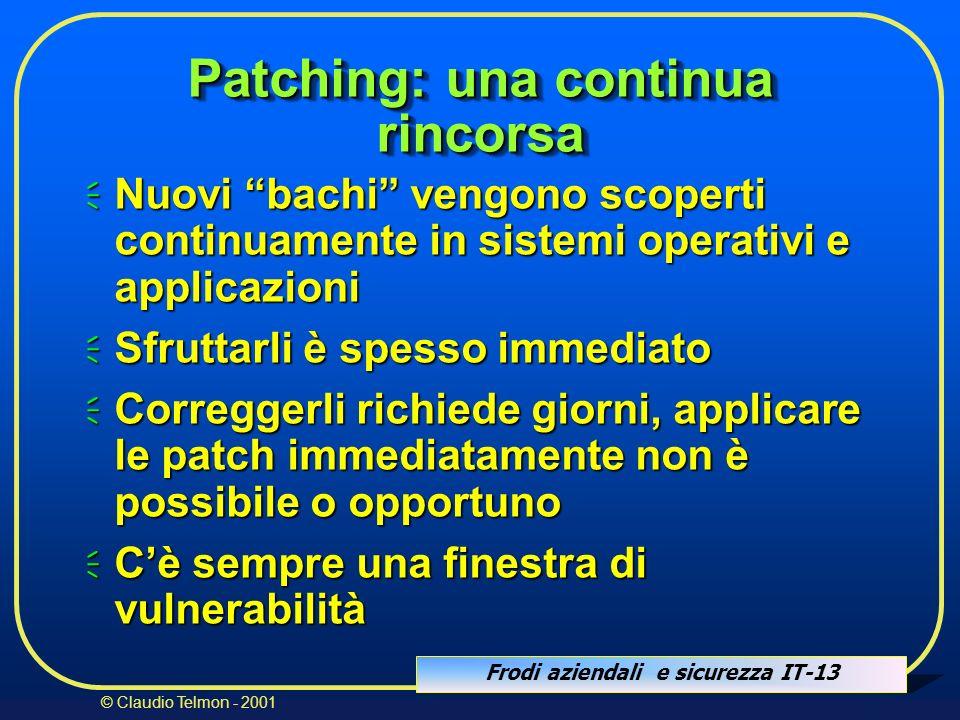 Patching: una continua rincorsa