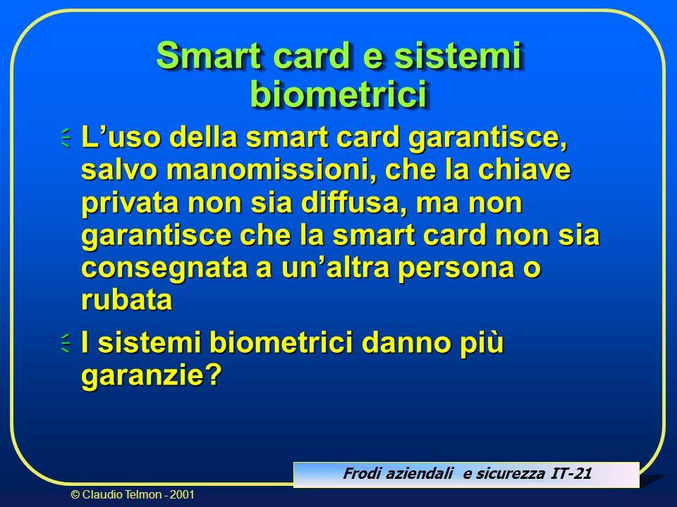Smart card e sistemi biometrici