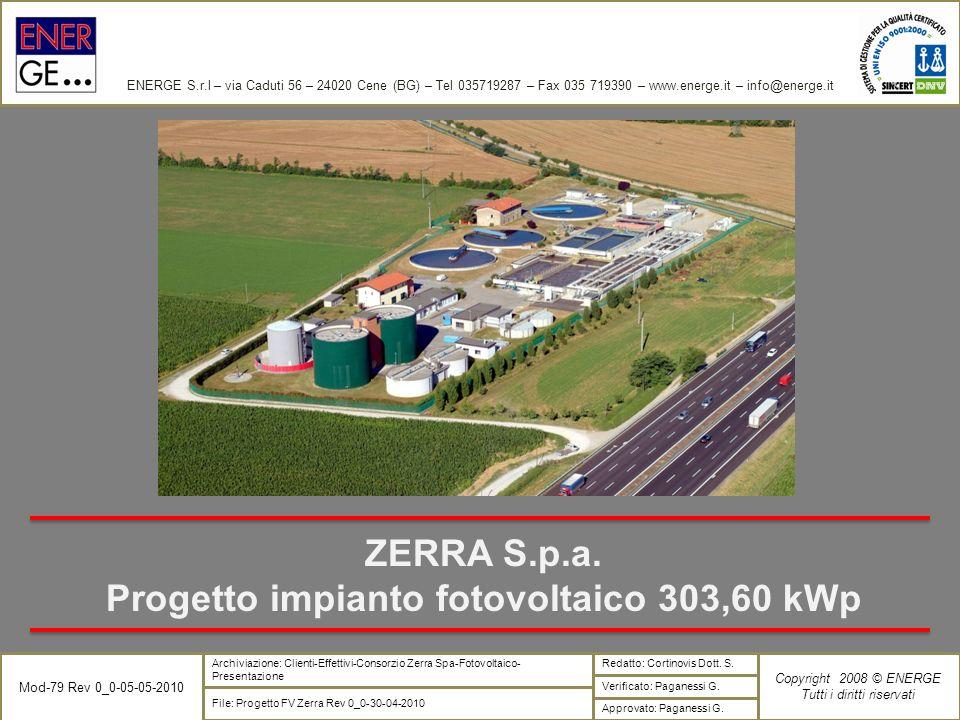 Progetto impianto fotovoltaico 303,60 kWp