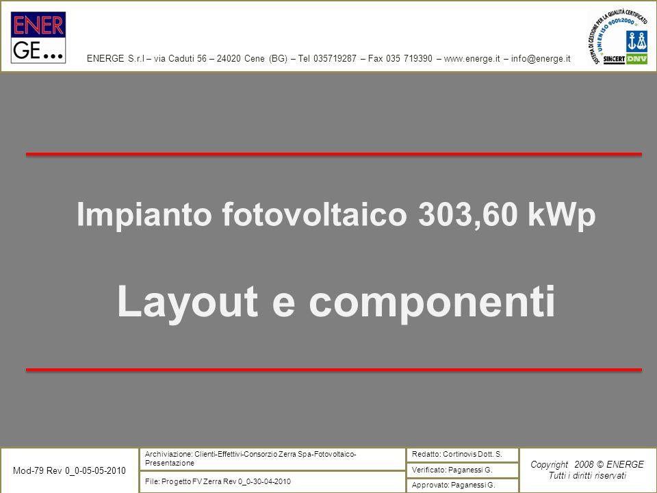 Impianto fotovoltaico 303,60 kWp