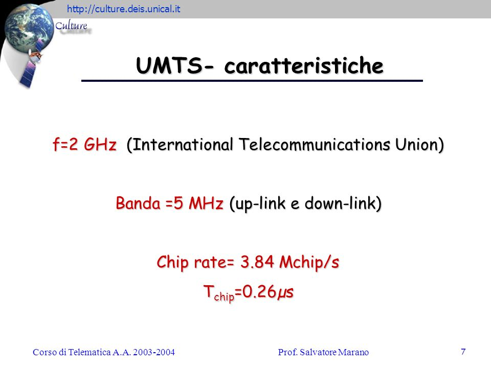 UMTS- caratteristiche