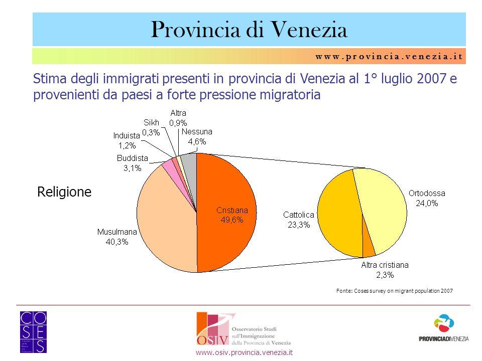 Provincia di Venezia w w w . p r o v i n c i a . v e n e z i a . i t.