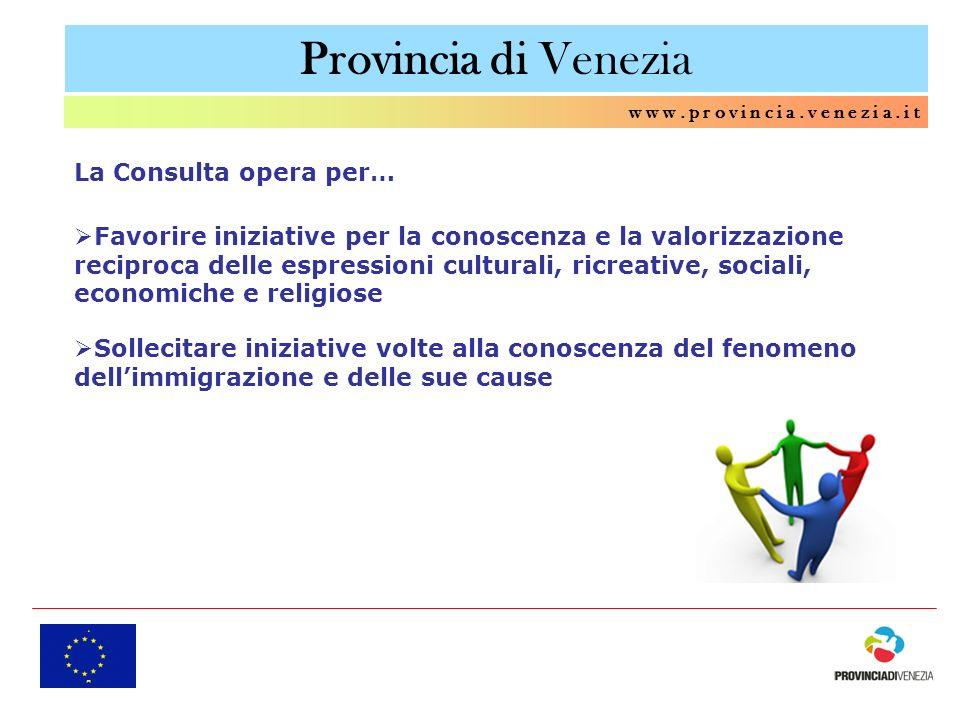 Provincia di Venezia La Consulta opera per…