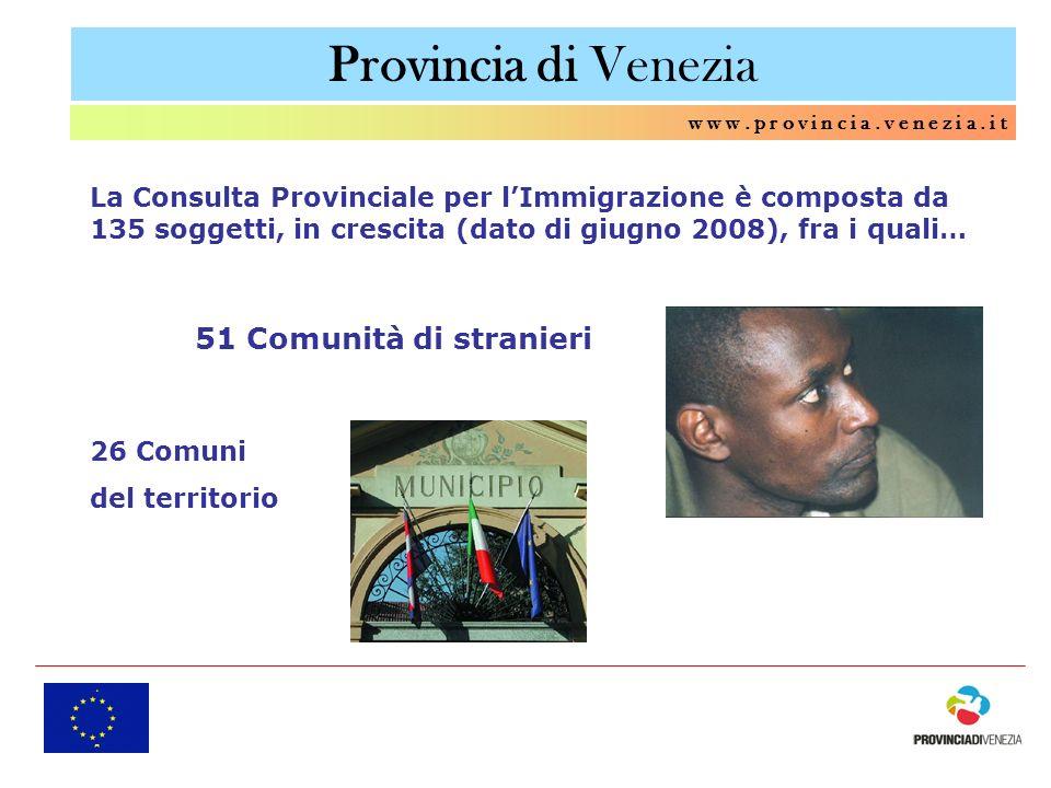 Provincia di Venezia 51 Comunità di stranieri