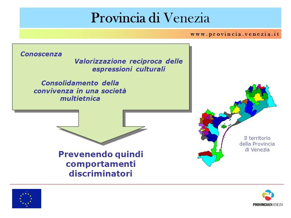 Provincia di Venezia Prevenendo quindi comportamenti discriminatori