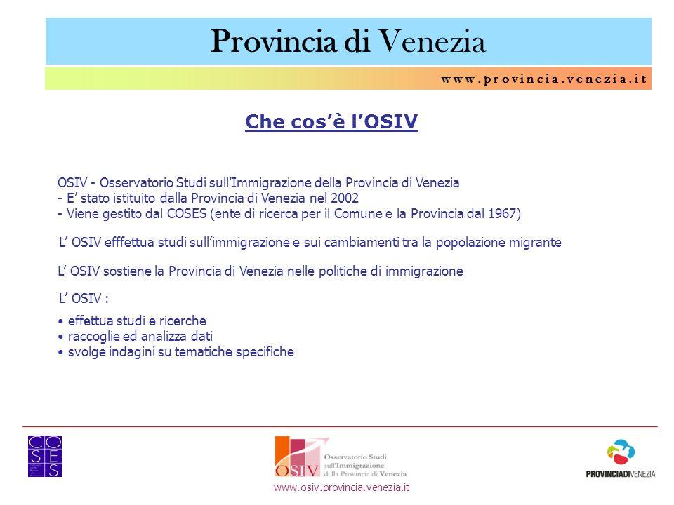 Provincia di Venezia Che cos'è l'OSIV