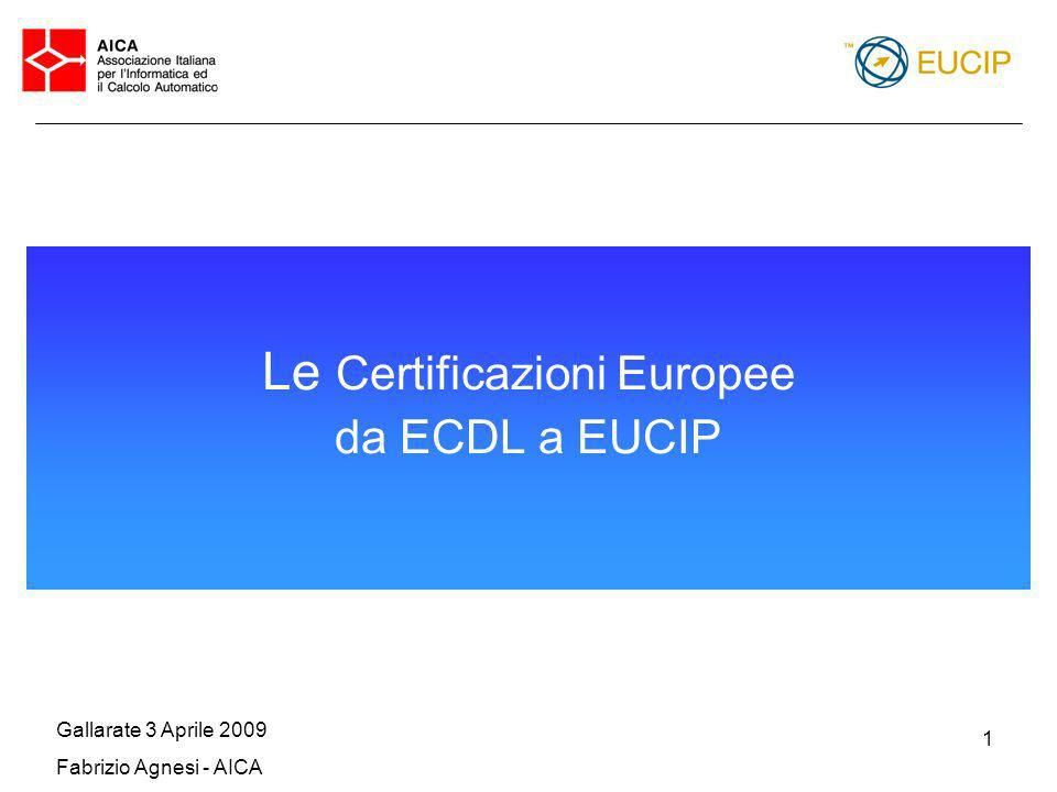 Le Certificazioni Europee da ECDL a EUCIP