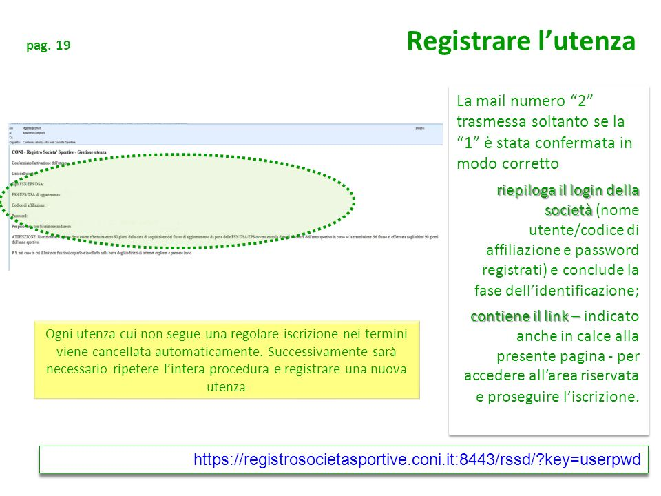 pag. 19 Registrare l'utenza