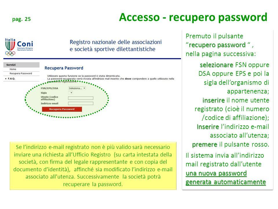 Premuto il pulsante recupero password , nella pagina successiva: