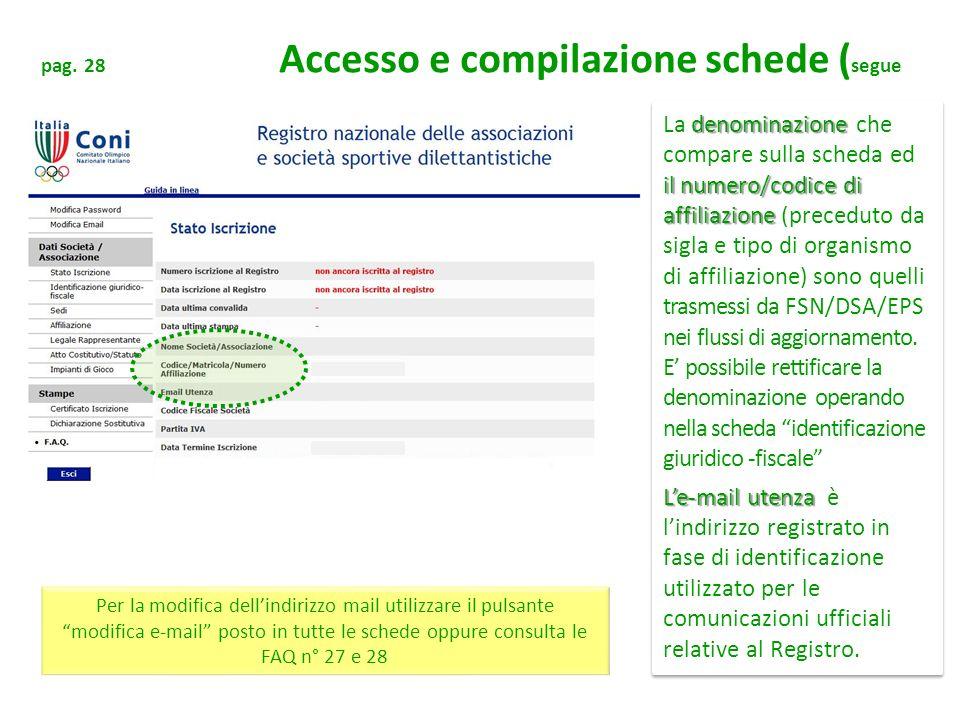 pag. 28 Accesso e compilazione schede (segue