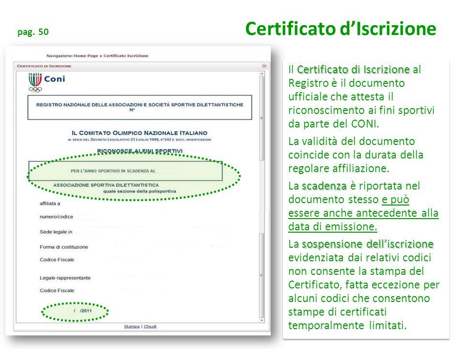 pag. 50 Certificato d'Iscrizione