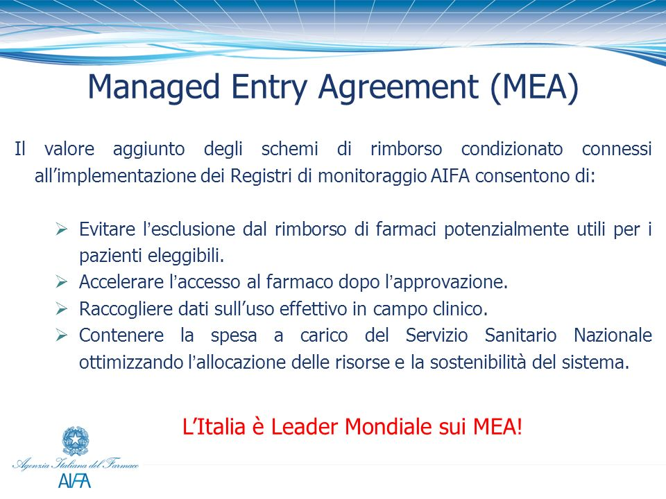Managed Entry Agreement (MEA)