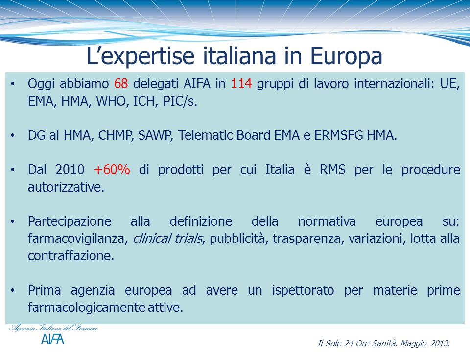 L'expertise italiana in Europa