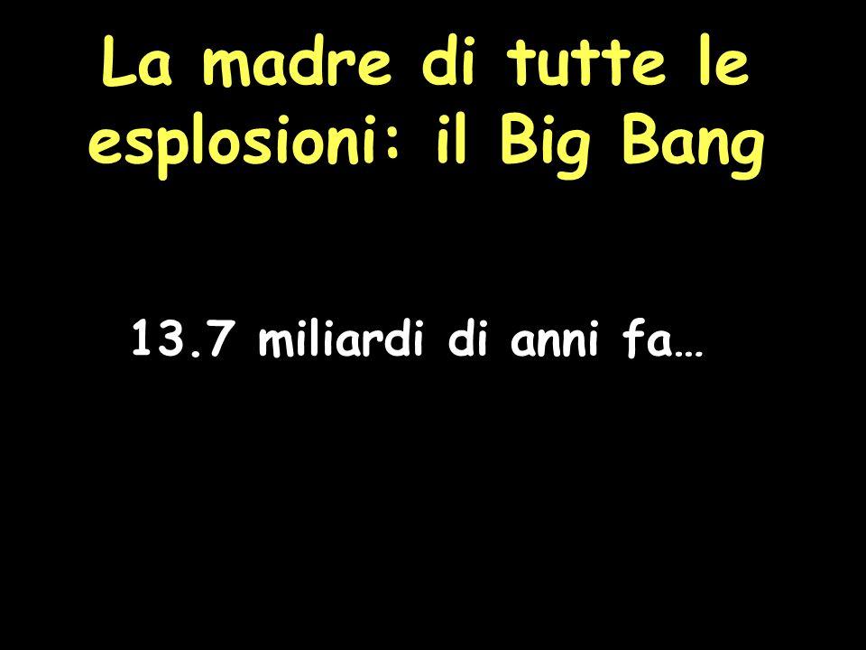 La madre di tutte le esplosioni: il Big Bang