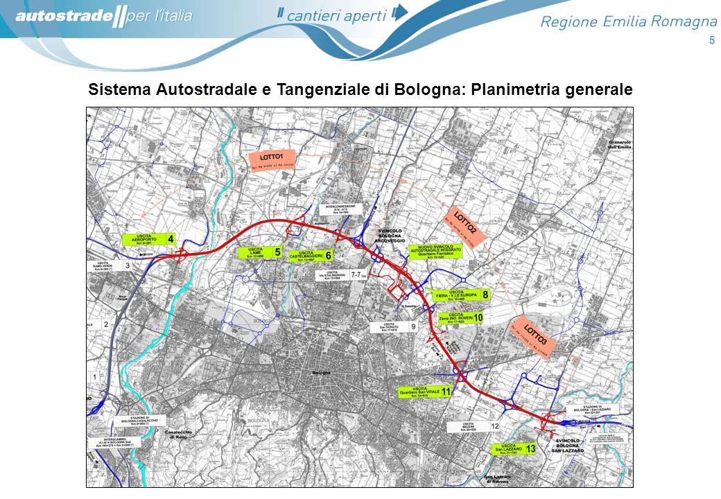 Sistema Autostradale e Tangenziale di Bologna: Planimetria generale