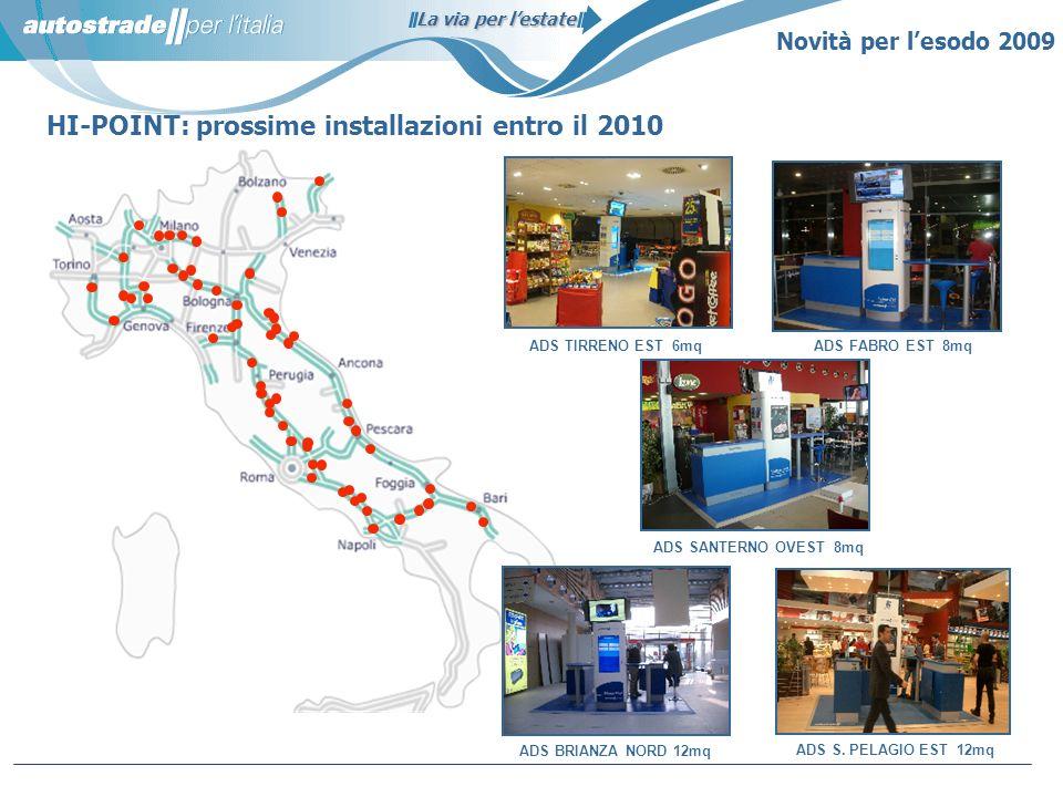 HI-POINT: prossime installazioni entro il 2010
