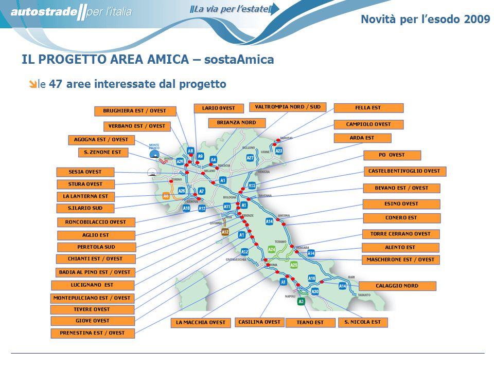 le 47 aree interessate dal progetto