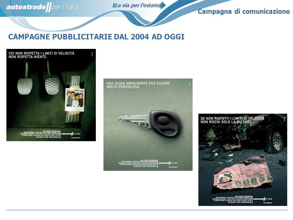 CAMPAGNE PUBBLICITARIE DAL 2004 AD OGGI