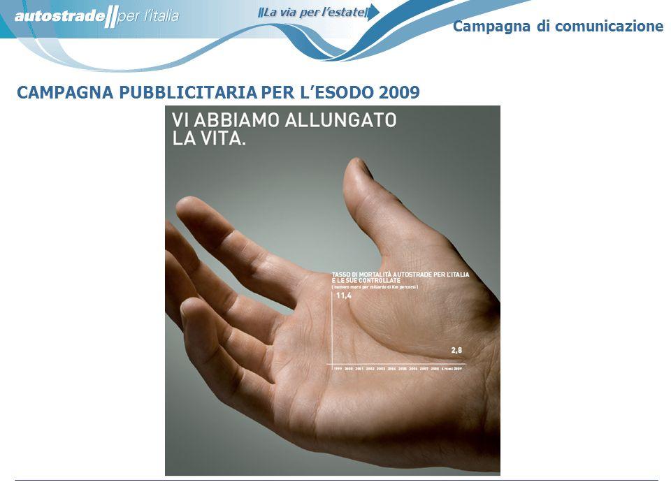 CAMPAGNA PUBBLICITARIA PER L'ESODO 2009