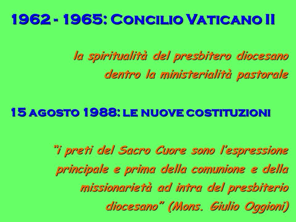 1962 - 1965: Concilio Vaticano II