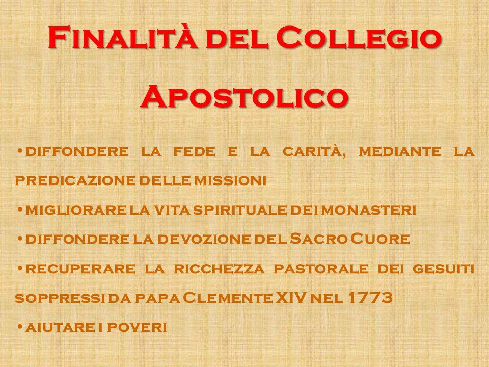 Finalità del Collegio Apostolico