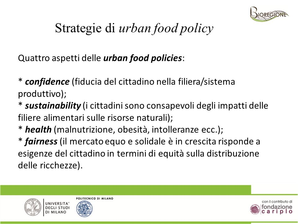 Strategie di urban food policy