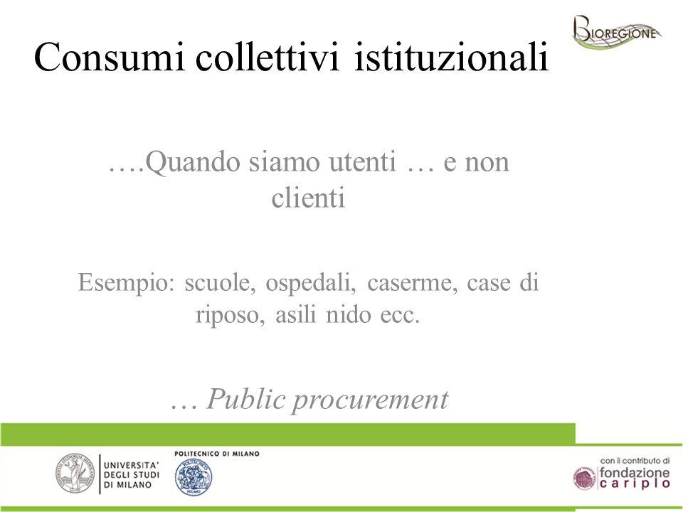 Consumi collettivi istituzionali
