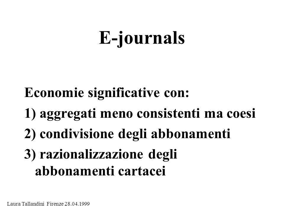 E-journals Economie significative con: