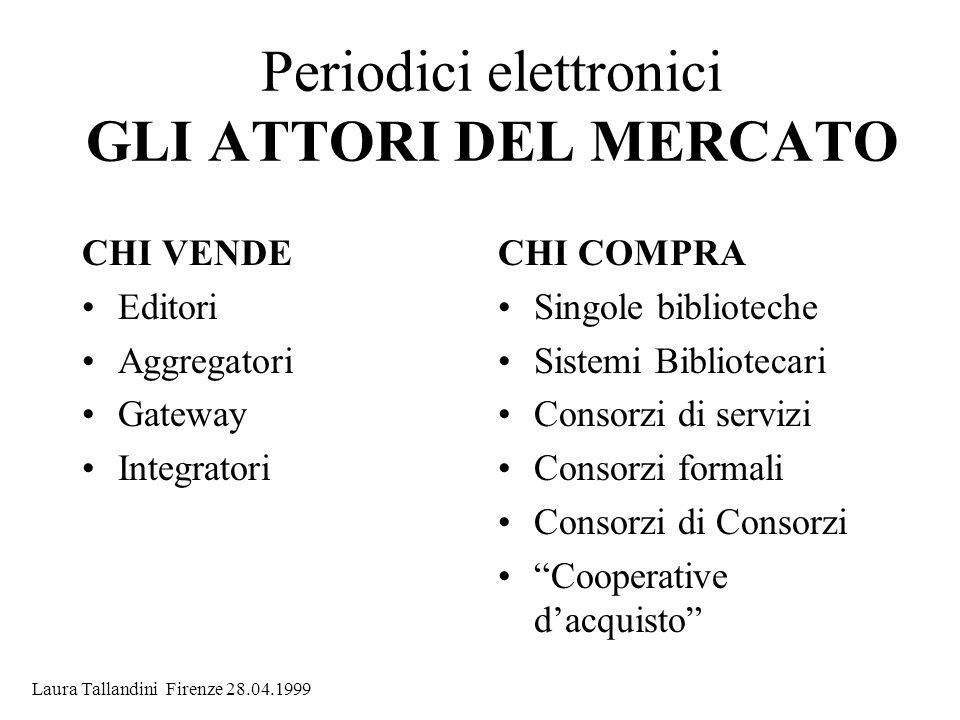 Periodici elettronici GLI ATTORI DEL MERCATO