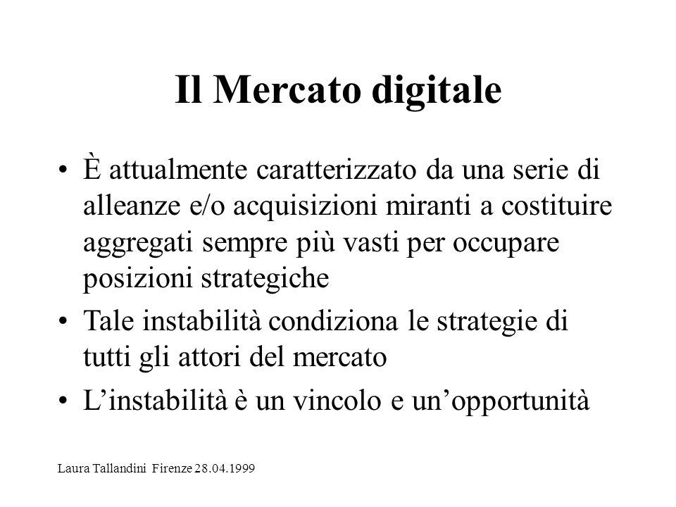 Il Mercato digitale