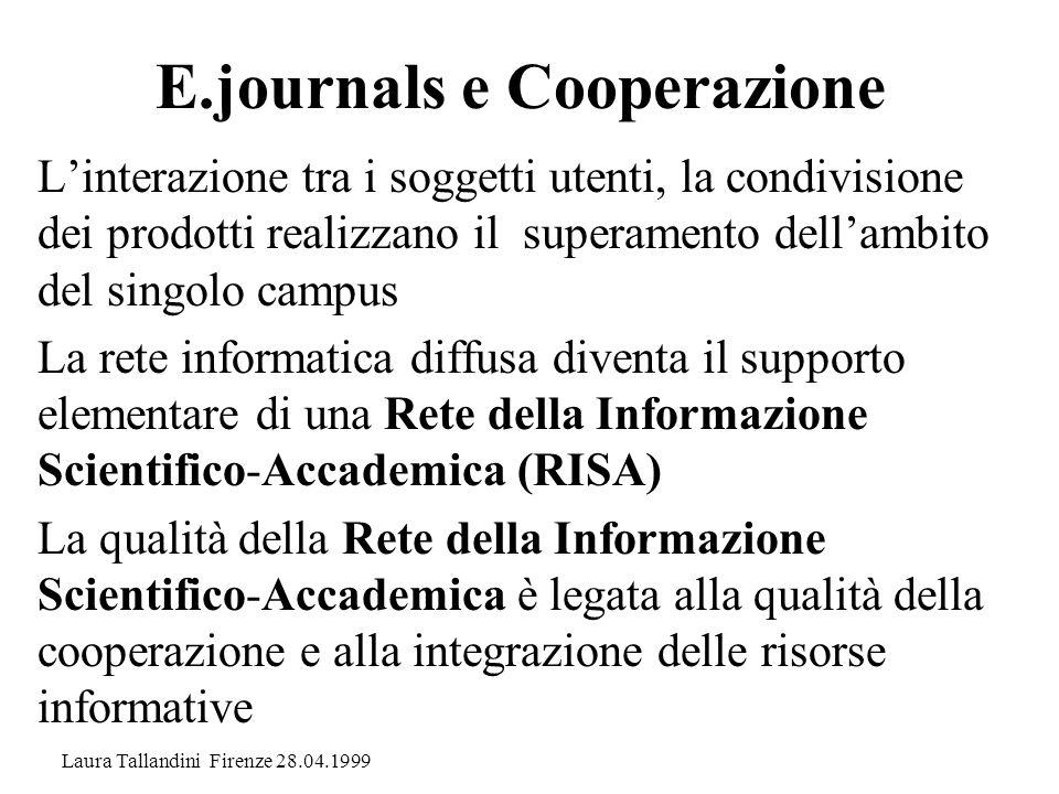 E.journals e Cooperazione