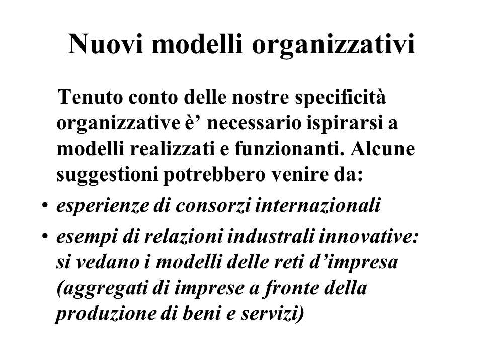 Nuovi modelli organizzativi