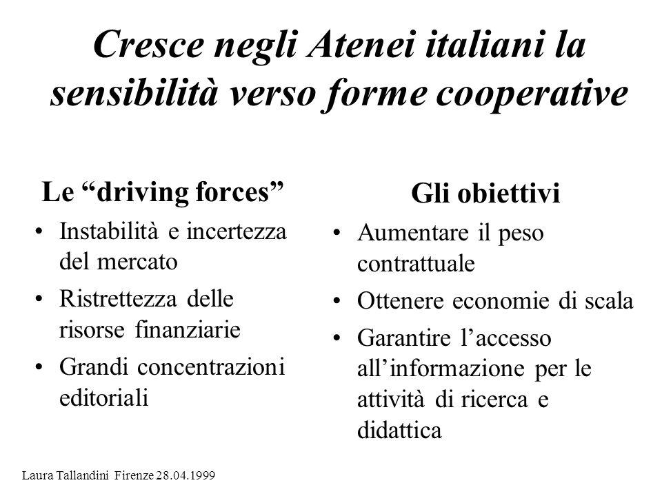 Cresce negli Atenei italiani la sensibilità verso forme cooperative