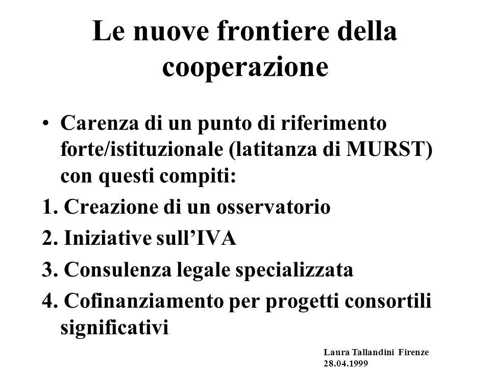 Le nuove frontiere della cooperazione