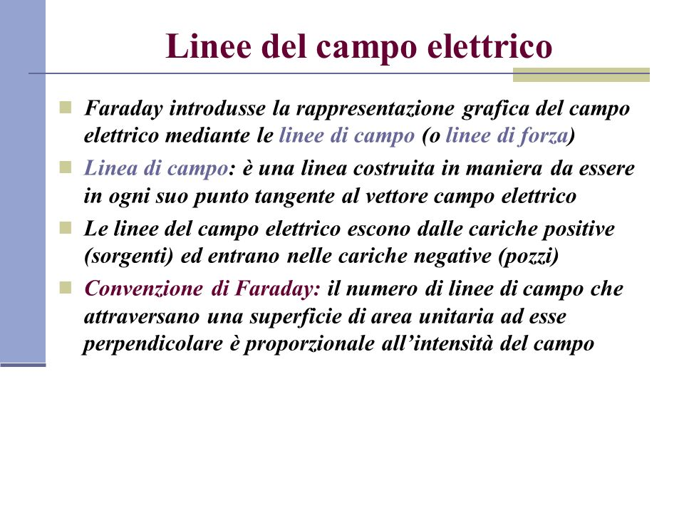 Linee del campo elettrico