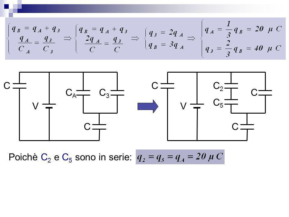 C CA C3 V C C2 C5 V Poichè C2 e C5 sono in serie: