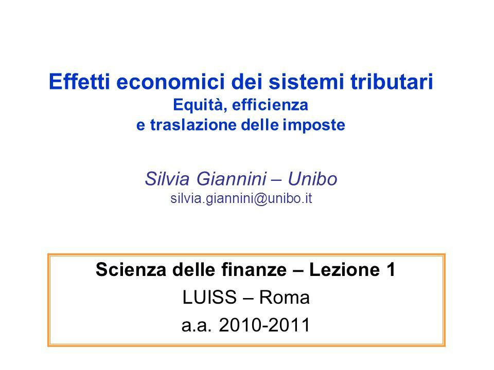 Scienza delle finanze – Lezione 1 LUISS – Roma a.a. 2010-2011